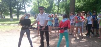 Казачьи игры в детском пришкольном лагере СОШ № 61.
