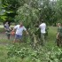 Каширинские казаки помогли школе хутора Ленина справиться с последствиями стихии