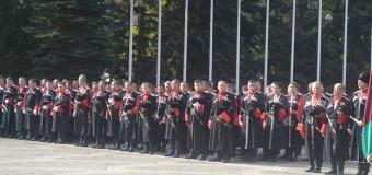 Казаки-каширинцы на параде в честь Дня кубанского казачества.