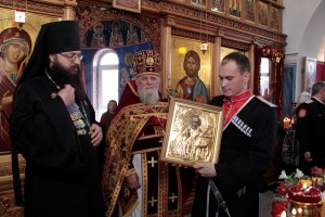 Казакам «Каширинского куреня» духовник вручил куренную икону