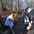 Казаки вместе с казачатами провели осеннюю уборку в хуторском сквере.